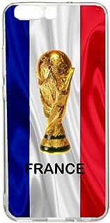 Beschermhoesje voor Huawei P10 Plus, motief: voetbal wereldkampioenschap Frankrijk