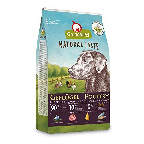 GranataPet Natural Taste Geflügel, Trockenfutter für Hunde, Hundefutter ohne Getreide & ohne Zuckerzusätze, Alleinfuttermittel für ausgewachsene Hunde, 4 kg