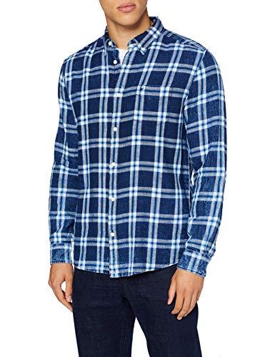 Wrangler Mens LS 1PKT Button Down Shirt, Alaskan Blue, M