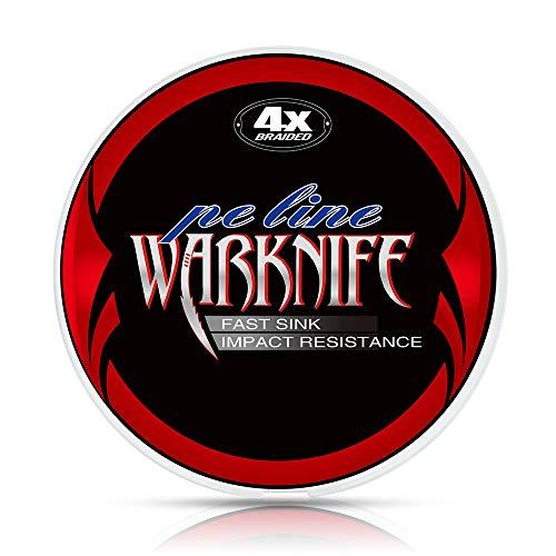 Warknife 釣り糸 PEライン 4編/4本撚り 150m ダックグリーン 船釣り/磯釣り/海釣り/投げ釣り/ルアー釣り/エギング/ジギング/スロージギング