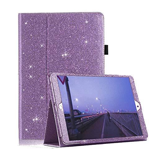 FSCOVER Case for iPad Mini 1 2 3, Glitter Slim PU Leather Stand Auto Sleep/Wake Sparkle Filp Smart Cover for Apple iPad Mini1 / Mini2 / Mini3 (7.9 Inch), Light Purple
