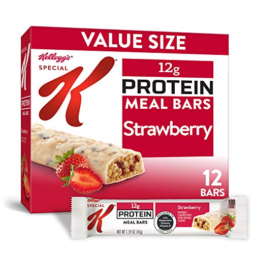 Kellogg's Special K Strawberry Protein Meal Bars - Office Lunch, Meal Replacement (12 Count)