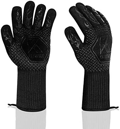 1 Pair 2PC BBQ Gloves 1472 F Heat Resistant Grill Gloves for Cooking Frying Baking Smoker Barbecue product image