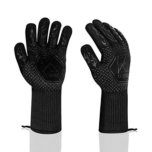 1 Pair(2PC) BBQ Gloves 1472°F Heat Resistant Grill Gloves for Cooking,Frying,Baking,Smoker,Barbecue...