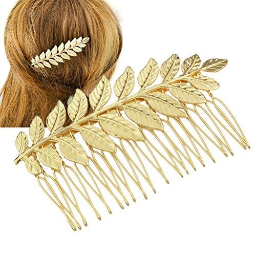 Peine de pelo de la boda, oro de color hoja clip nupcial accesorio para las ocasiones de la boda