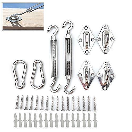 XYNH - Kit de montaje de toldo de acero inoxidable para toldo, 6mm (1 set)