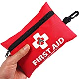 Mini First Aid Kit,92 Pieces Small First Aid Kit - Includes Emergency Foil Blanket,CPR Face Mask,Scissors for...