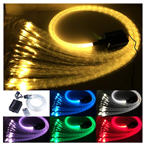 CHINLY 16W RGBW Fern Lampe 300pcs 1.0mm 3m Fasersensor auftreffende Licht Wasserfall Kit