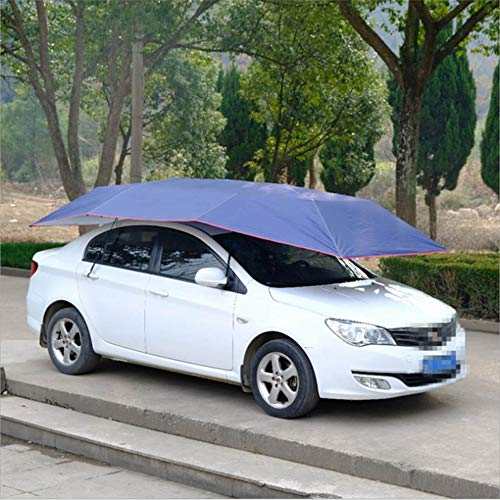 Car Tent Automatic Portable Car Umbrella Tent Cover Intelligent Remote Control Removable Roof Folding Car Protection Awning, UV Protection, Waterproof, Windproof, Snowproof,Semiautomatic