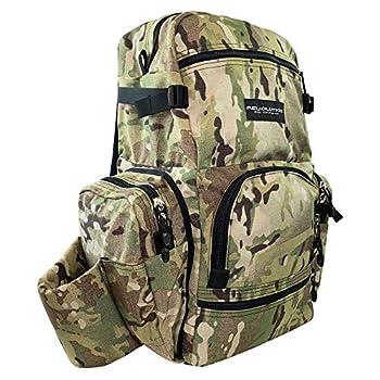 Revolution Disc Golf 2020 Dual Pack Backpack Disc Golf Bag - Universal Camo/Universal Camo/Universal Camo