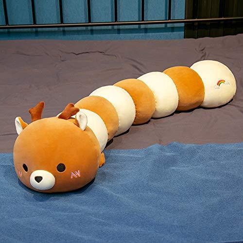 tuyuzhen Caterpillar Cushion Pillow Doll Plush Gift For Girls 80CM Q