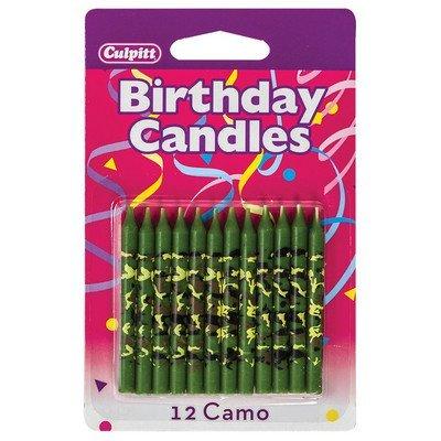 Camo Print Geburtstag Kuchen Kerzen–12ct