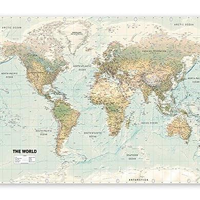 Foto di murando Carta da parati 300x210 cm Fotomurali in TNT Murale alla moda Decorazione da Muro XXL Poster Gigante Design Carta per pareti Mappa del mondo Karte Kontinente k-A-0091-a-d