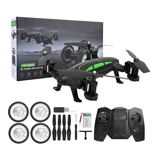 Mini Headless DroneFoldable FPV Drones 2.4G WiFi Remote Control Racing Toy Sky Land Dual Use Outdoor Drone Car Toy