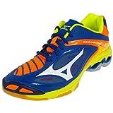 Mizuno Wave Lightning Z3, Chaussures de Volleyball Homme, Multicolore (Surftheweb/White/orangeclownfish), 46 EU