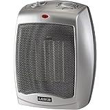 Lasko Electric Ceramic 1500W Heater, Silver/Black, 754200