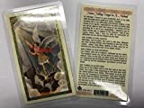 Holy Prayer Cards for The Never Failing Prayer to Saint Michael The Archangel Set of 2 in English