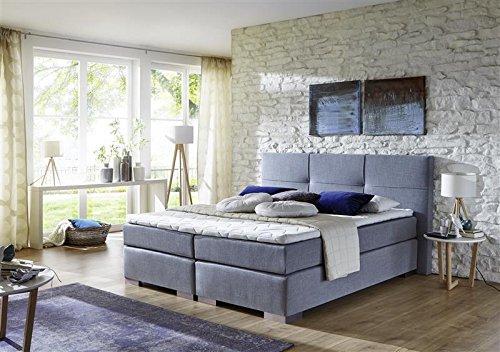 Breckle Boxspringbett 140 x 200 cm Cinderella Box Stauraum 1000 TFK Big Topper Gel Premium Comfort