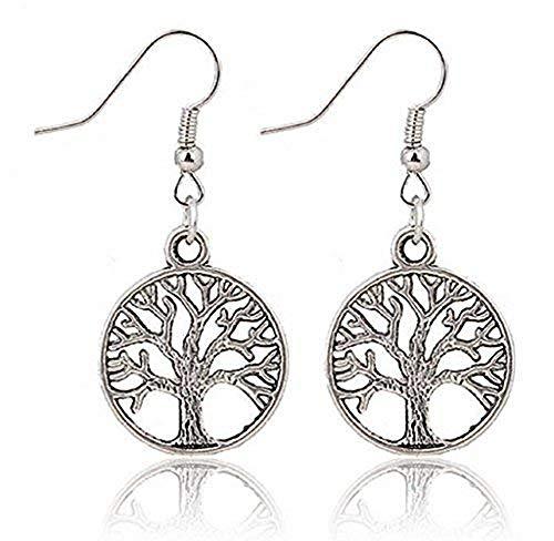 KIRALOVE Orecchini - pendente - simbolo - albero della vita - Spiritualità - Bigiotteria - Donne - Ragazza