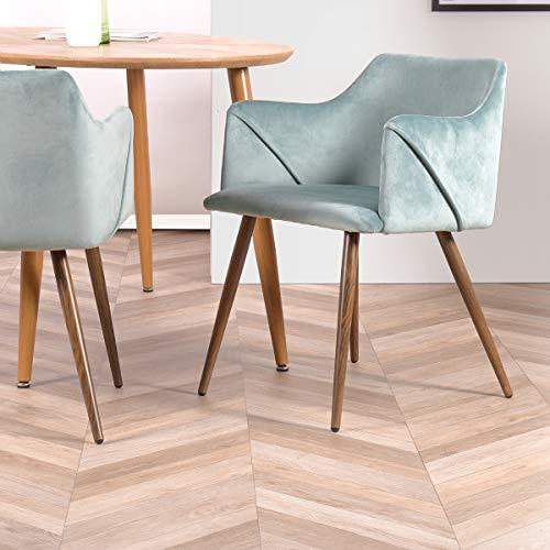 Furnish 1 Set mit 2 Esszimmerstühle Küchenstühle Wohnzimmerstühl, Skandinavisch Sessel, Aqua