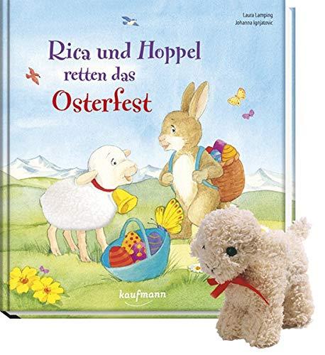 Rica und Hoppel retten das Osterfest mit Stoffschaf: Mein Streichel-Bilderbuch mit Fell
