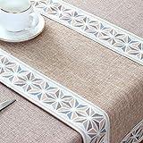 Branfan Tee-Tischdecke Betttuch Tee-Tisch Schlicht Han Tischläufer gestreift Tischdecke Staubdicht Chinesische Tischdecke 30 x 120 cm_A