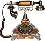 TAIDENG Clásico Europeo Retro teléfono Fijo dial rotativo Resina imitación Cobre...