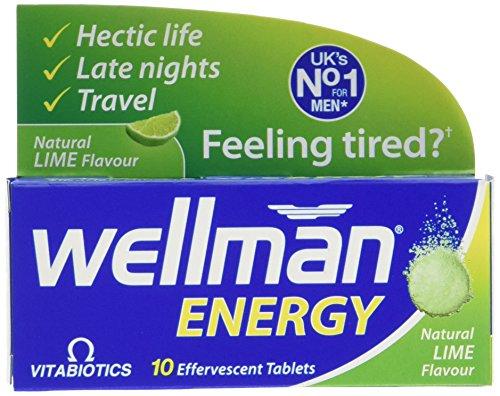 Vitabiotics Wellman Energy Lime - 10 Effervescent Tablets