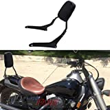 MotorFansClub Passenger Back Seat Cushion Backrest Sissy Bar Fit For Compatible With Honda Shadow Spirit VT750 2007-2014 Honda VT750C2B Shadow Phantom 2010-2017