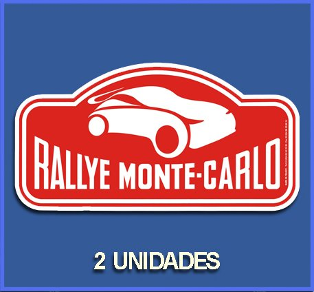Ecoshirt DW-W9HK-BGVV stickers Montecarlo Dp766 stickers Car Decals Rally Rallies