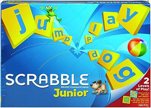 Scrabble Junior Kinder Brettspiel mit Kugelschreiber