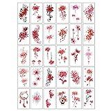 Tatuajes Temporales, Pegatina Del Tatuaje De Mariposa 3d Flores Impermeables Tatuaje Temporal Tatuaje Realista Floral Falso Tatoo Pegatina Brazo Cuello Cuerpo Cuerpo Maquillaje Para Adultos Manos Y