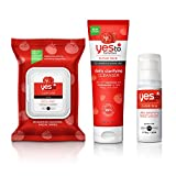 Yes To Tomatoes Face Kit - Antioxidant-Rich Products for Clear Skin (Facial Wipes, Clarifying Cleanser, Daily Balancing Moisturizer)