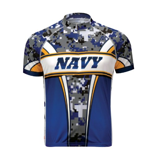 Primal Wear Men's US Navy Camo Cycling Jersey - NAT1J20M (US Navy Eleven - XL)
