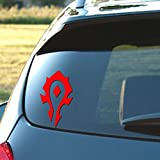 Signage Cafe World of Warcraft Horde - Vinyl Decal, 3.5' x 6' in a Variety of Color Options (Red)