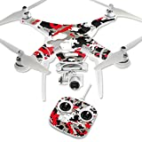 MightySkins Skin Compatible with DJI Phantom 3 Standard Quadcopter Drone wrap Cover Sticker Skins Red Camo
