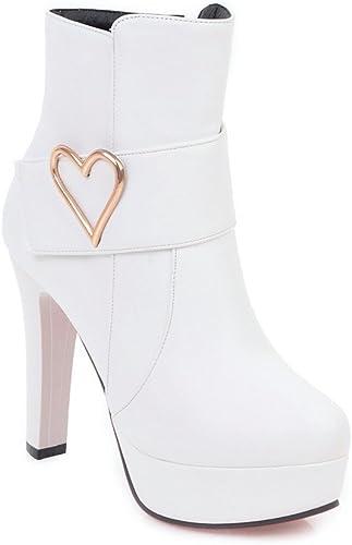 Damenstiefel High Heel Dick mit Stiefelies Größe Größe, Weiß, 40