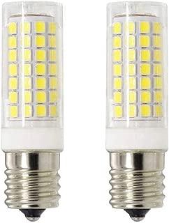 Ceramic E17 LED Bulb for Microwave Oven Appliance, 75W Halogen Bulb Equivalent,Daylight White 6000K,8W,850LM,110V 120V 130V(Pack of 2)