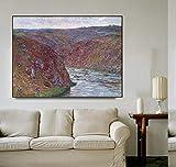 """Pintura al óleo de Monet""""Wrinkle Valley"""", carteles e impresiones sobre lienzo, murales decorativos s..."""