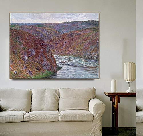 Claude Monet 'Valley of the Creuse' Arte De Pared De Lienzo Posters e impresiones Cuadros de pared para la decoración del hogar de la sala de estar 40x52cm 16 'x20' Sin marco