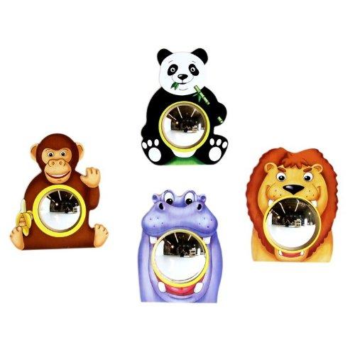 Anatex Murale Animal Friends miroirs (Lot de 4)