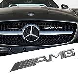 OPAYIXUNGS - Metallo cromato con AMG Logo per griglia anteriore auto