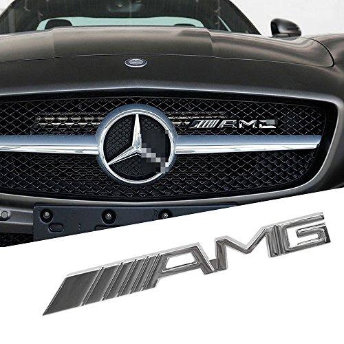 Opayixungs Chrom-Metall-Element mit AMG-Logo für Kühlergrill, vorne