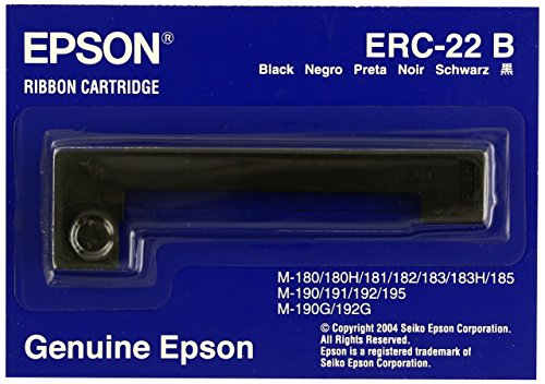 Epson ERC 22B - Cinta de impresión - 1 x negro, Ya disponible en Amazon Dash Replenishment