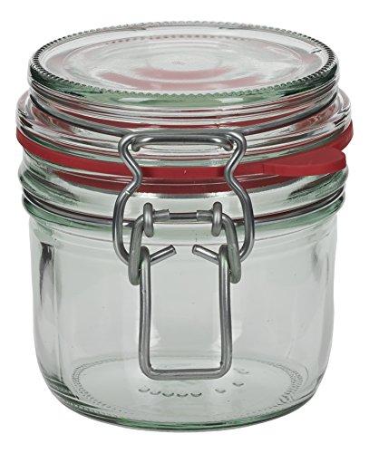 4 x 255 ml Drahtbügelglas/Spannbügelglas rund - inkl. Deckel, Gummidichtung und Spannbügel - Einkochglas - Einweckglas - Einmachglas - Bügelglas - Haushaltsglas - Allzweckglas - Aufbewahrungsglas