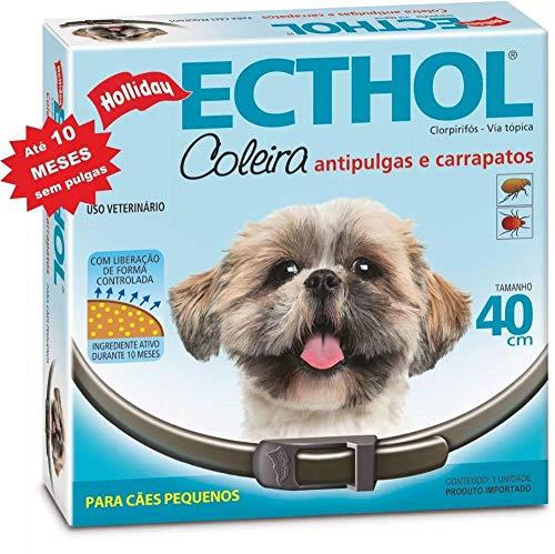 Coleira Antipulgas E Carrapatos Hollyday Para Cães-10 meses - 40 cm