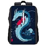Spirit Dragon Mochila para portátil con puerto de carga USB
