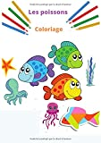 Coloriage poisson: Livre de coloriage pour enfant