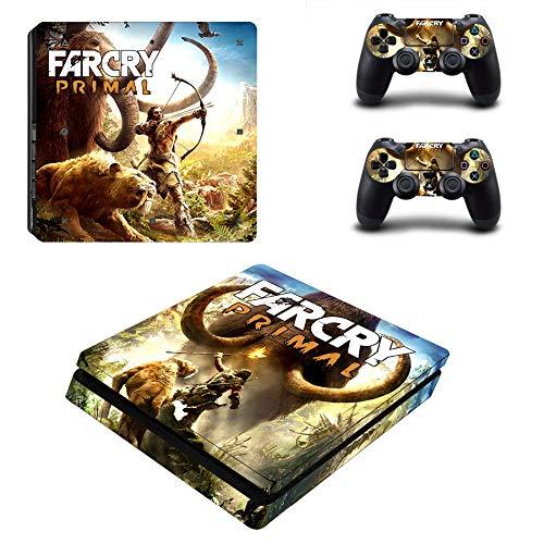 TSWEET Far Cry Primal Ps4 Slim Skin Sticker Calcomanía para Playstation 4 Consola y Controlador Ps4 Slim Skins Stickers Vinilo