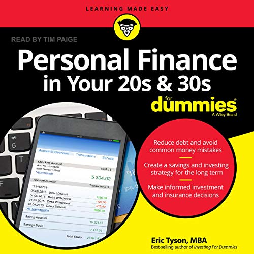 Personal Finance in Your 20s and 30s for Dummies audiobook cover art